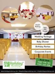 Holiday Residency Banquet Hall - An Ambiance Of Plush Luxury For Amazi